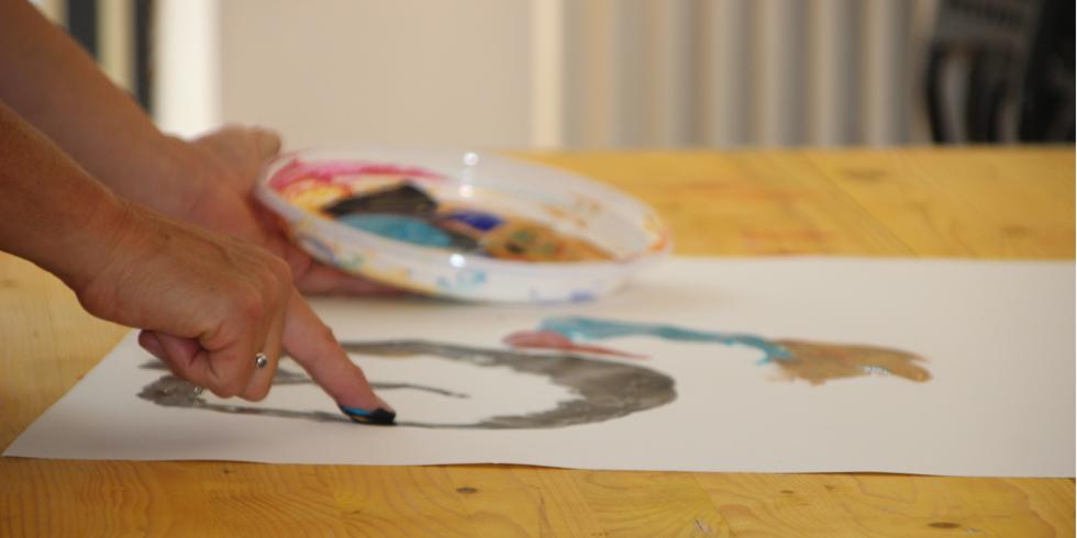 Blaue Stunden | Fingerfarben